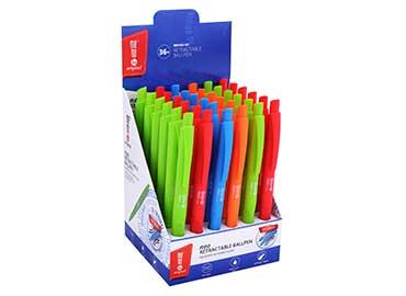 Długopis automatyczny NEO 0,7mm z obudową Soft-Touch MemoBe niebieski wkład